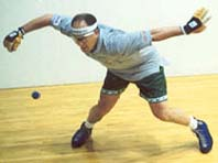 Handballer in action